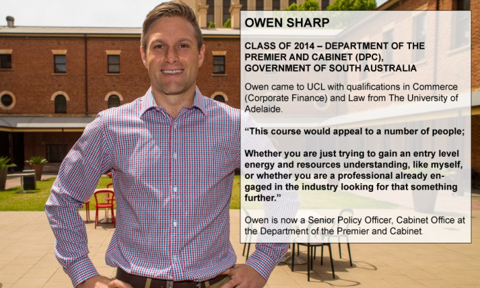Owen Sharp - Class of 2014 - Government of South Australia