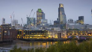 Thames and London skyline