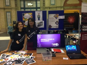 Some of our committee members at the Big Bang Fair 2014