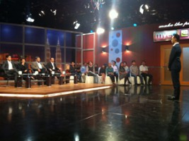 On the set of Make The Pitch, a Malaysian entrepreneurship competition