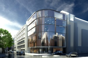 Artist's visualisation of the building which will house the Proton Beam Therapy Centre