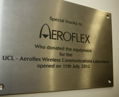 The UCL-Aeroflex Wireless Communications Laboratory