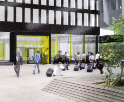 Architect's visualisation of oneustonsquare, which will house the UCL/BBC partnership