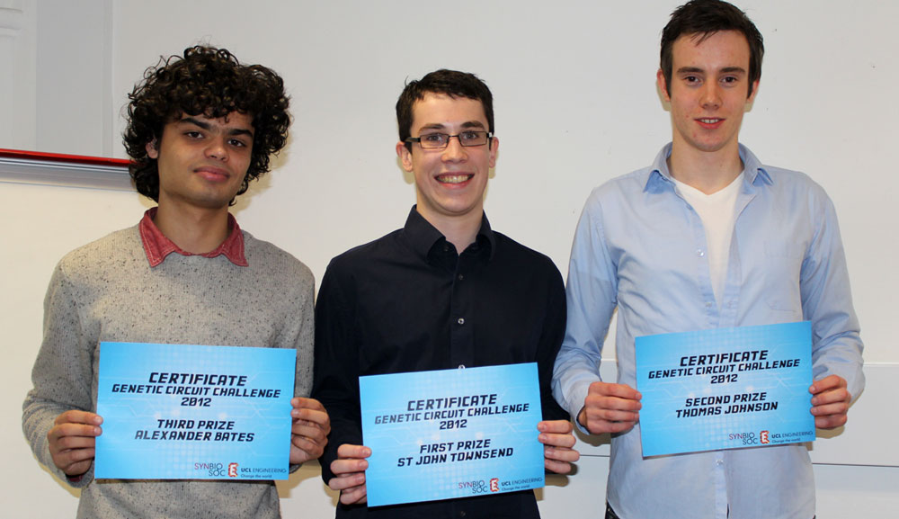 Student winners of the Genetic Circuit Challenge competition,