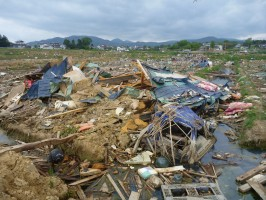 Tsunami and earthquake damage in Miyagi Prefecture, Japan, 2011. Image taken by jetalone on Flickr