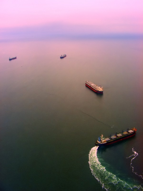 Shipping in Vancouver Bay, by Ecstaticist, CC licensed on Flickr