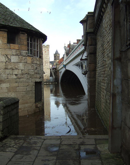 The flooded Barker's Tower in York, one of the case studies on the PARNASSUS project