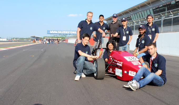 UCl's 2013 formula student racing team at Silverstone