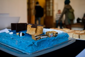 Motherboard cake by Dave Twisleton of UCL Engineering