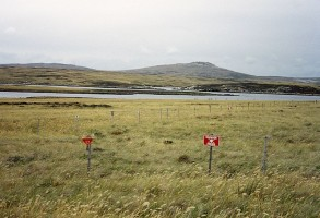 A minefield in the Falklands, cc licensed from Wikipedia