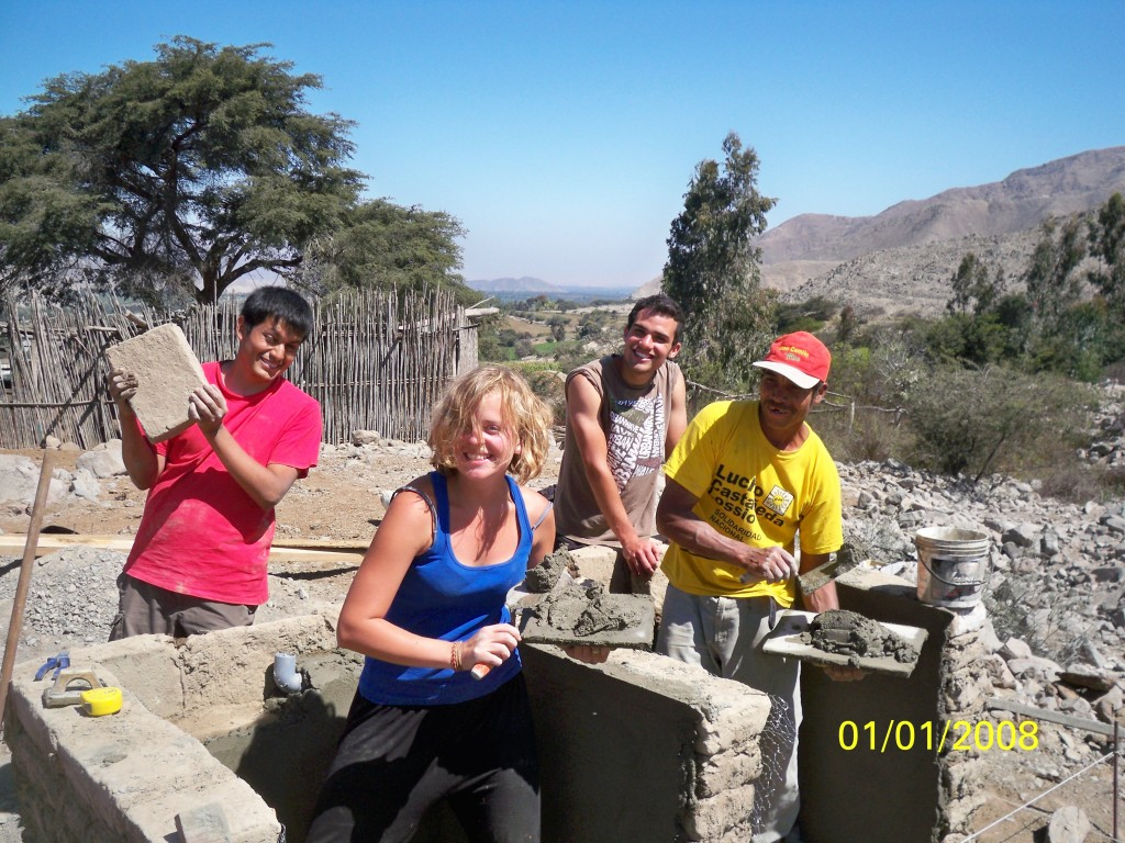 UCLU Engineers Without Borders on a project in Peru