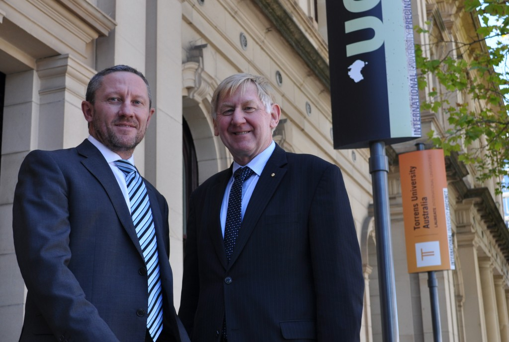 Mr Martin Ferguson and Mr David Travers at UCL Australia in Adelaide