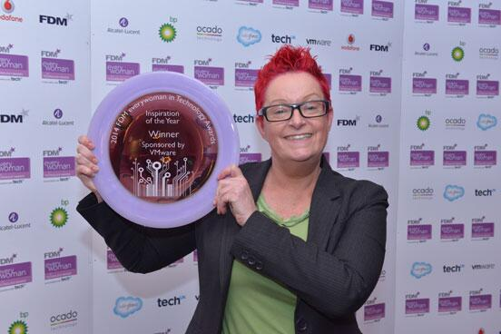 Sue Black of UCL Computer science wins 'Inspiration of the year' at the everywoman tech awards.