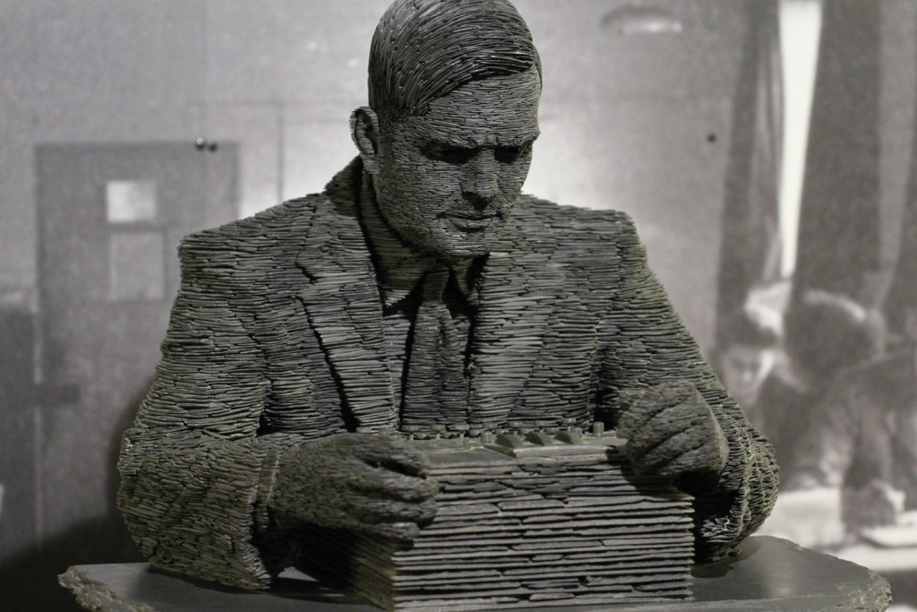 Statue of Turing at Bletchley Park. Image courtesy of Duane Wessels, Flickr