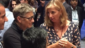 Professor Clare Elwell meets Bill Gates