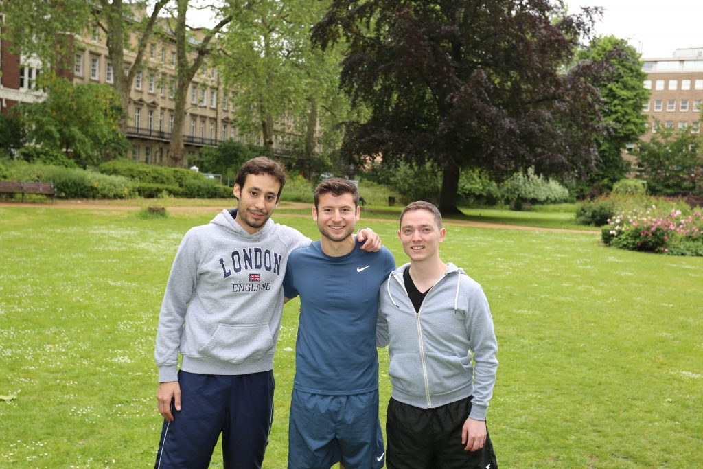 (from L-R.)Luis C. Garcia-Perraza, Michael Ebner and Stefano Moriconi