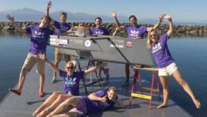 Team Triumph with boat