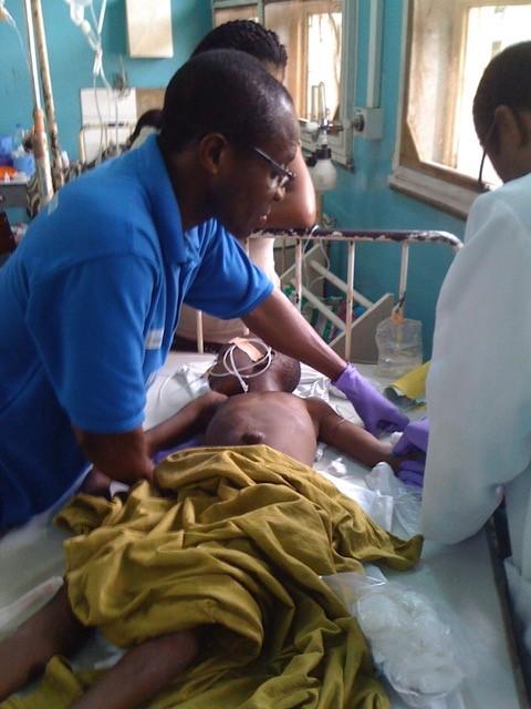 unconscious comatose child diagnosed with life-threathening cerebral malaria