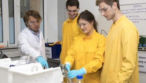 Challenges 'A Postgraduate Teaching Assistant helps IEP students from the Department of Biochemical Engineering working on one of their second year Scenarios
